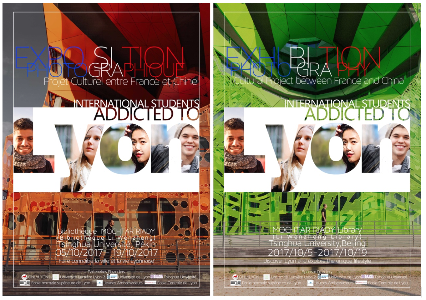 "Photo Exposition ""Addicted to Lyon"" in Tsinghua University"